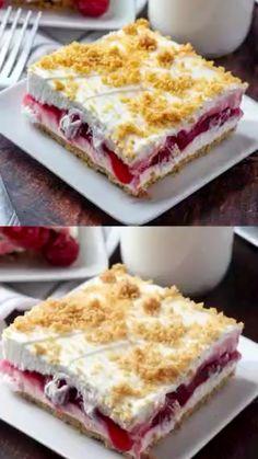 13 Desserts, Cherry Desserts, Layered Desserts, Cherry Recipes, Summer Desserts, Pie Recipes, Sweet Recipes, Baking Recipes, Cookie Recipes