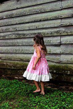 Girls Pink Polka Dot Dress baby girls coming by plainjanesstore, $26.50