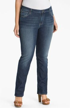 Lucky Brand 'Ginger' Straight Leg Jeans (Plus) available at #Nordstrom - All of my jeans are boot cut and these might make a nice change of pace.