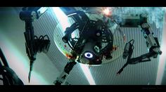 surgical robot, mech, tech, robotic, horror, blood, sketchup, keyshot, render, 3D, concept art, film, movie