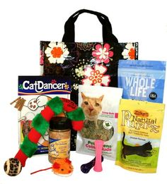 Meowy Christmas Cat Gift Basket Featuring the « Holiday Adds