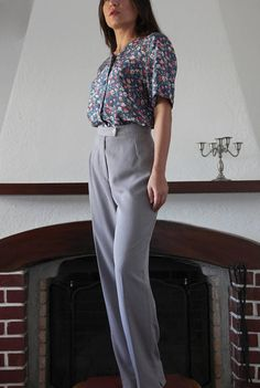 Vintage light pastel levander classic high waist