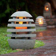 Stone Shade Garden Lanterns