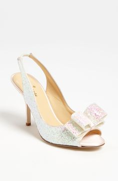 kate spade charm shoes - sparkly white winter wedding
