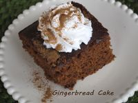 Gingerbread with Cinnamon Whipped Cream - HippieDog's Favorite Recipes