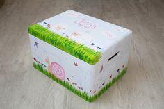 Kisten & Boxen - Spitzbub Erinnerungskiste - Schafe Schnecke - ein Designerstück von Spitzbub bei DaWanda