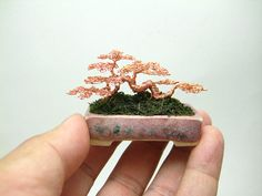 Miniature Wire Bonsai Trees by Ken To - The Beading Gem's Journal