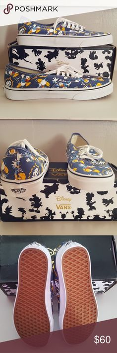 NEW VANS Disney Magic - Donald Duck So popular, so loved!  Disney's Donald Duck - the duck with an attitude.  Always a favorite for the young and young at heart.  Super adorable comfy shoes. New without tag, comes in original box.  Size Women: 10.5/Men: 9 Vans Shoes Sneakers