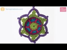 Crochet Jewelled Snowflake + Tutorial - The Crochet Crowd