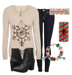 """Merry Christmas!"" by amethyst-516 ❤ liked on Polyvore featuring True Religion, Heaven Sends, George, Casetify, Jewel Exclusive, Madden Girl, Bling Jewelry and peaceandstyle"