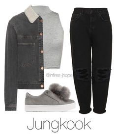 Grey Outfit with Jungkook by infires-jhope