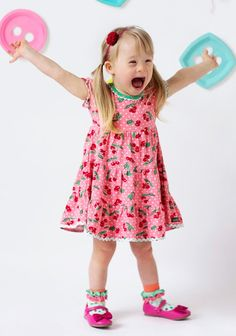 Cherry Pie Lap Dress-Happy and Free Size 4