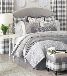 Hampshire Collection from Eastern Accents. This gorgeous bedding is available for special order in our Peacock Interiors store! Contact 804-402-7198 or 770-751-0977 for more details!