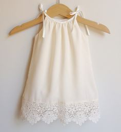 Chiffon and Lace Baby Dress 0000 size by DearLittleOneDesigns