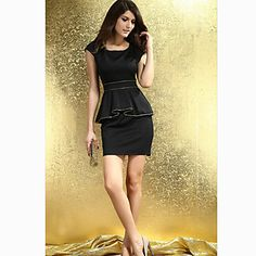 Vestido delgado elegante del verano de las mujeres - USD $ 14.69