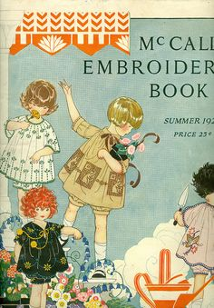 Vintage Embroidery - Lazy daisy stitch variations - Embroidery Patterns - A beautiful illustration graces the cover of this charming vintage embroidery book from the - Embroidery Designs, Vintage Embroidery, Embroidery Stitches, Hand Embroidery, Embroidery Sampler, Embroidery Scissors, Machine Embroidery, Embroidery Books, Embroidery Software