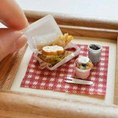 Tiny takeout #miniaturefood