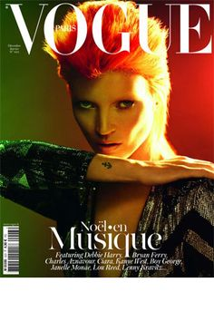 Kate Moss as Ziggy Stardust.