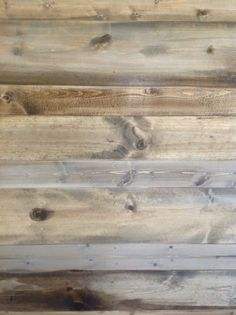 Wood feature walls. New pine planks, stained to look like salvaged and reclaimed wood. How-to make them look old using stains. Perfect for bedroom walls, niches, ceilings.  Theraggedwren.blogspot.com