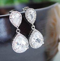 Wedding Jewelry Bridal Jewelry Bridal Earrings by earringsnation, $39.00