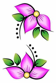 Mano Alzada Flower Patterns, Beading Patterns, Flower Designs, Embroidery Patterns, Art Floral, Beadwork Designs, Painted Flower Pots, Native Beadwork, Fabric Painting