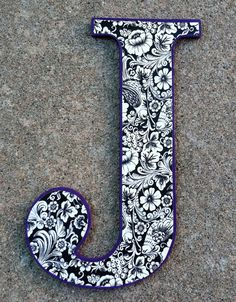 Wooden Decorative Letter J by sorelleaccessories on Etsy, $12.00