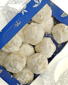 A powdery sweet cookie with just the right touch of pecans, makes a perfect gift for the holidays