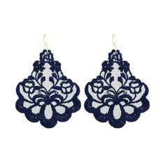 DIY elegant lace earrings - would not be difficult.