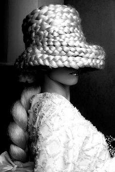 Braided hat hair