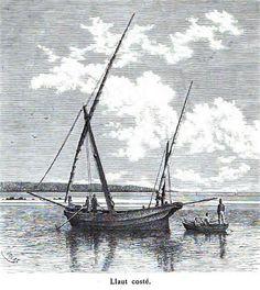 "El llaüt Coster  - illustr. from ""Die Balearien"" by l'Arxiduc Luis Salvador d'Austria, ca. 1870-80"