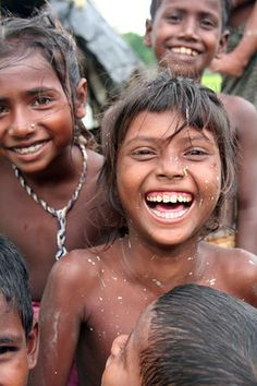 Bangladesh. Bede children. How they always should be, each and every one of them in the world....