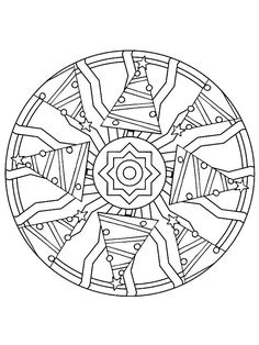 coloring page Mandala Christmas Kids-n-Fun