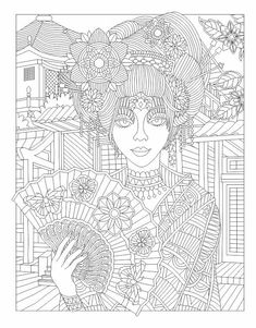 Beauty Adult Coloring Page