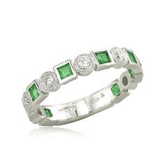 Emerald And Diamond Ring   Engagement Jewelry Shop