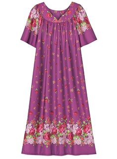 Soft-as-silk slipover dress with sweetheart neckline has gentle shirring and flutter sleeves. Machine wash and dry. Sewing Clothes Women, Clothes For Women, Cute Dresses, Beautiful Dresses, Kids Dress Patterns, Island Outfit, Girls Dresses Online, Sari Dress, Everyday Dresses