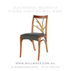 Inspired by the delicate beauty and curved lines of the Magnolia tree, this chair is hand shaped from the beautiful Australian Tasmanian Blackwood species. Worldwide shipping available. 