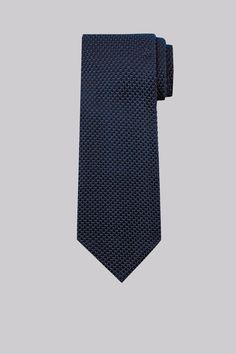 Moss 1851 Navy Knitted Silk Tie by Moss Bros Moss Bros, Silk Ties, Spring Fashion, Colours, Navy, January, Aesthetics, Led, Pattern
