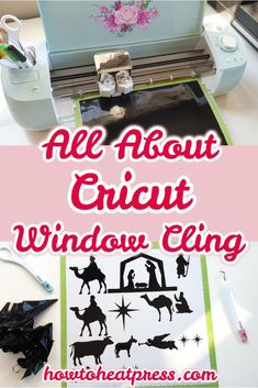 All About Cricut Window Cling – Make Temporary Window Decals Cricut Window Cling can be used for many projects, including home & car window decals. Come & check out my Christmas Nativity project! Custom Window Clings, Window Cling Vinyl, Window Decals, Vinyl Wall Decals, Wall Stickers, Cricut Heat Transfer Vinyl, Cricut Iron On Vinyl, Diy Projects To Sell, Vinyl Projects