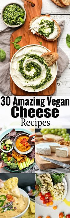 If youre looking for vegan cheese recipes, you will LOVE this vegan cheese roundup! Ditch the dairy and try some of these non-dairy cheese recipes! Find more delicious vegan recipes at veganheav Vegan Cheese Recipes, Delicious Vegan Recipes, Vegan Foods, Vegan Snacks, Vegan Dishes, Dairy Free Recipes, Raw Food Recipes, Veggie Recipes, Vegetarian Recipes