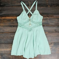boho chic crochet mint mint green summer spring outfits idea bohemian gypsy hippie southern concert festival looks ootd romper playsuit