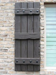 Black shutter, rustic style