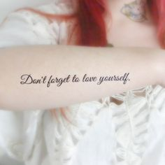 Large Inspirational Quote temporary Tattoo by HilliaryCustomLiving, $7.00