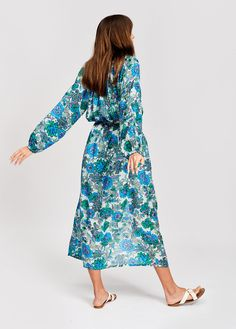 Look stunning in this cotton-silk blend shirt dress. Wear it on its own as a dress or over a full outfit like a light summer coat. Silk Shirt Dress, Ruffle Dress, Summer Coats, Stunning Summer, Green Fabric, Looking Stunning, Cotton Silk, Summer Collection, Cold Shoulder Dress