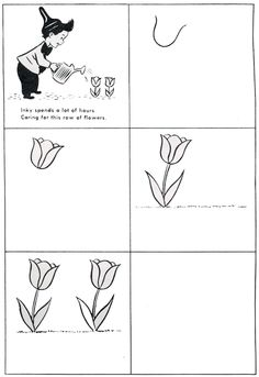 How to Draw a Tulip | Free Patterns