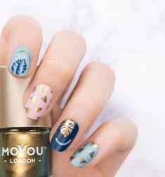 41 eye-catching mismatched nail art design ideas - nails ,matte nail art #nails #nailart