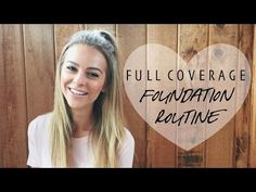 FULL COVERAGE for Acne + Dark Circles | Foundation Routine - YouTube