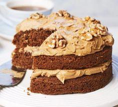 Bbc Good Food Recipes, Baking Recipes, Dessert Recipes, Yummy Food, Tea Recipes, Coffee Recipes, Kitchen Recipes, Coffee Icing, Cake
