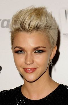 Sexy and Feminine Short Haircuts for Women: Short Mohawk Haircuts For Women 658x1024 Hipsterwall ~ hipsterwall.com Hairstyles Inspiration