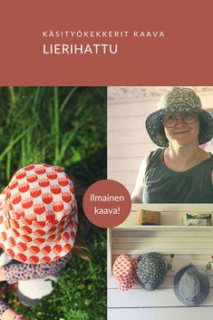 Lierihatun kaava, monta eri kokoa - KÄSITYÖKEKKERIT Sewing Patterns, Sewing Ideas, Crochet Hats, Crafty, Knitting, Dressmaking, Knitting Hats, Factory Design Pattern, Tricot