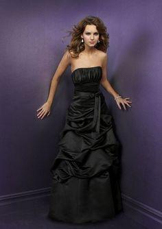 Prom+Dresses+Boutique+Taffeta+Long+Black+Ball+Princess